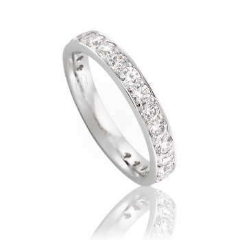 Bead Setting Is A Used For Small Diamonds Where Row Of Being Set They Are Drilled And Held Onto The Surface Ring By Beads